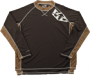 Royal brown-shoulder-print-jersey
